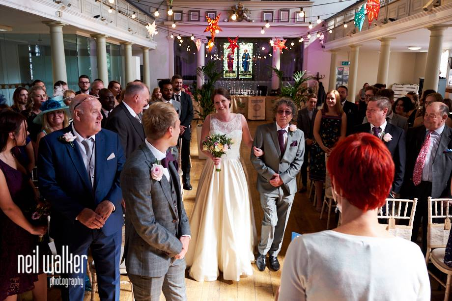 How to include your dad in your wedding. Walking down the aisle with dad ~ Sussex celebrant Claire Bradford of Creating Ceremony