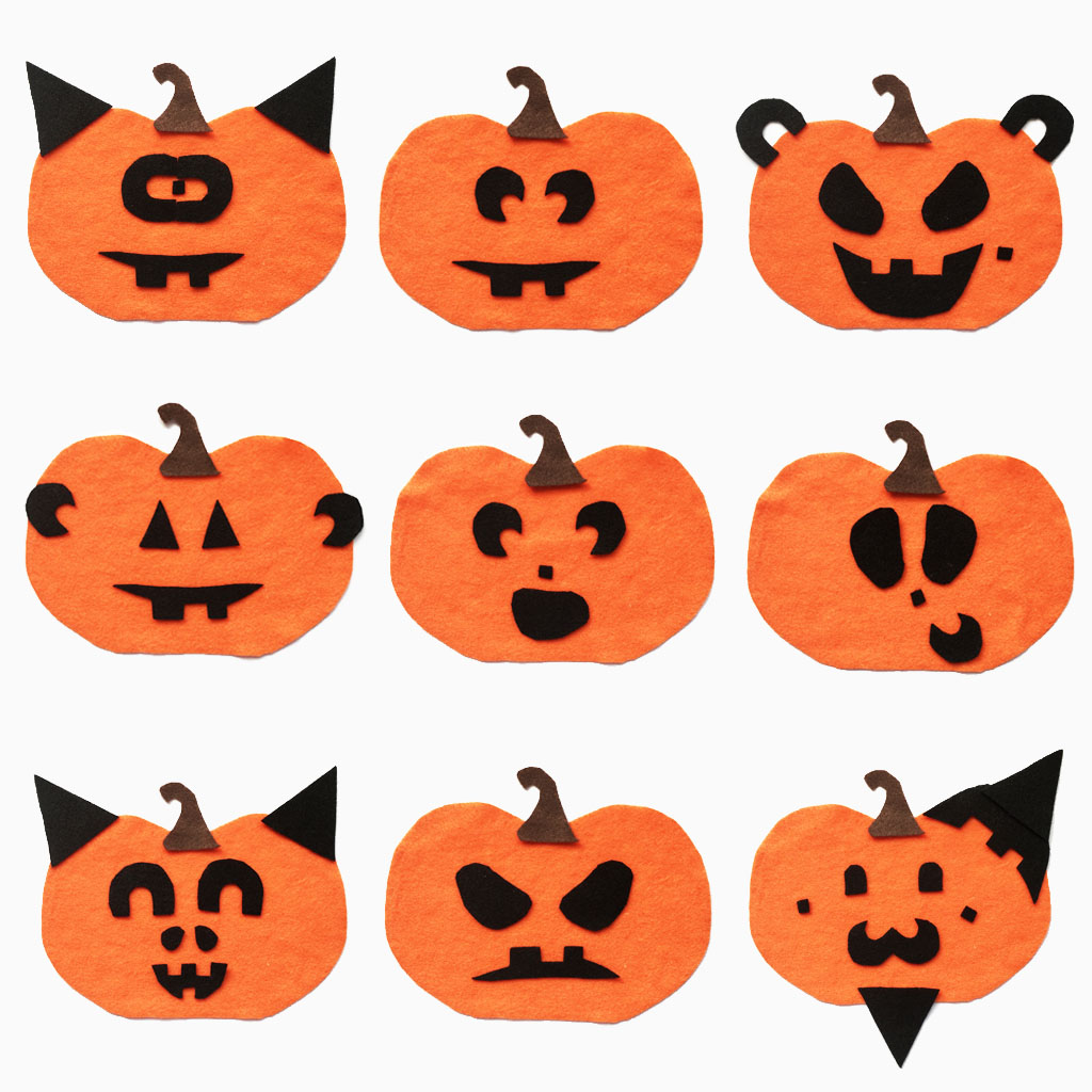 Jack O Lantern Face Board With Free Printable