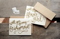 Cream Cardstock with Bronze Embossing, Kraft Brown Envelopes