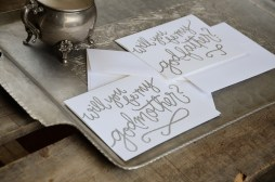 Godmother Invitations by Your New Friend Sam - White Cardstock with Silver Glitter Embossing