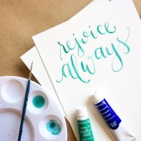 Rejoice Always, LetterItJuly by Sam Allen Creates