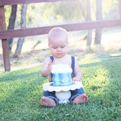 J Rose Photography - Isaiah 12 Month Portraits Cake Smash 1