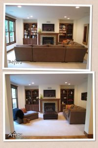 What to do with a sectional when you stage a home ...