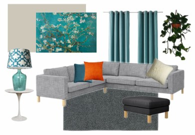 Grey And Teal Living Room Home Design Ideas Pictures