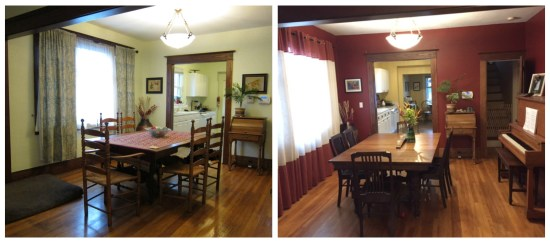 Portland Craftsman dining room before and after
