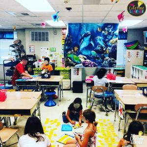 geometry classroom transformation under the sea
