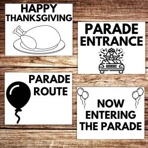 thanksgiving parade posters