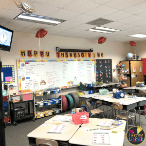 classroom decorated for thanksgiving macy's day parade