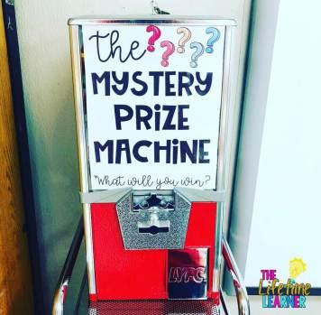 prize machine reward for classroom management strategies