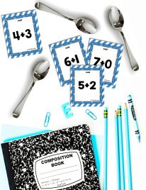enrichment activities math spoons notebook cards spoons
