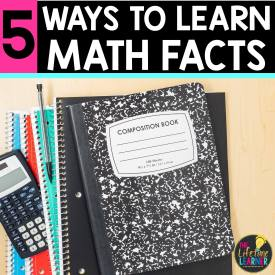 math notebook with calculator and pencil