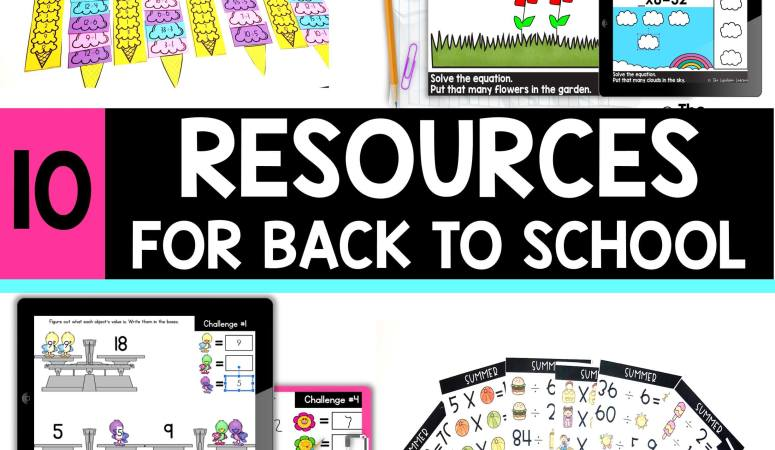 Back to School Resources for Elementary Students