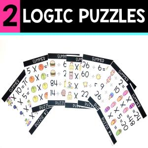 back to school resources logic puzzles