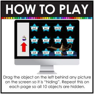 Digital hide and seek directions how to drag object