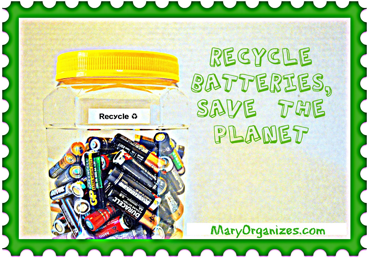 Recycle Batteries And Save The Planet