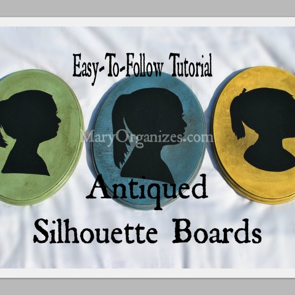 Antiqued Silhouette Boards