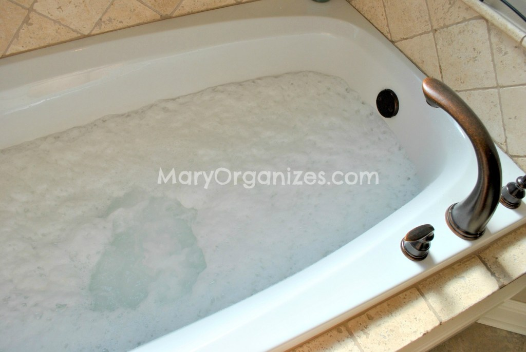 5  If any debris has collected at the top  use your kitchen wire strainer  to pull it off  If you clean your jets regularly  you may not run into any  debris  How To Clean Jacuzzi Tubs   creatingmaryshome com. Keep Jacuzzi Tub Jets Clean. Home Design Ideas