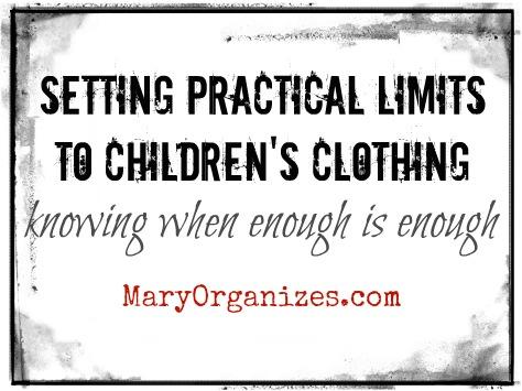 Kids Laundry: Setting Limits & Creating Neat Drawers…