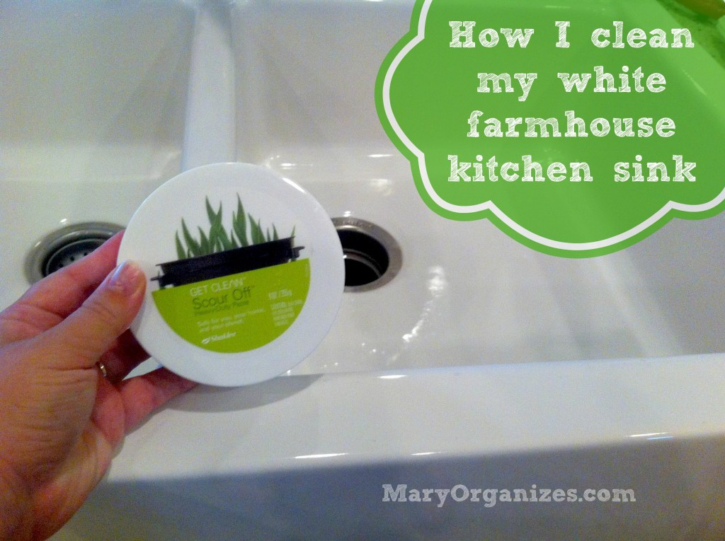 how to clean a white farmhouse sink