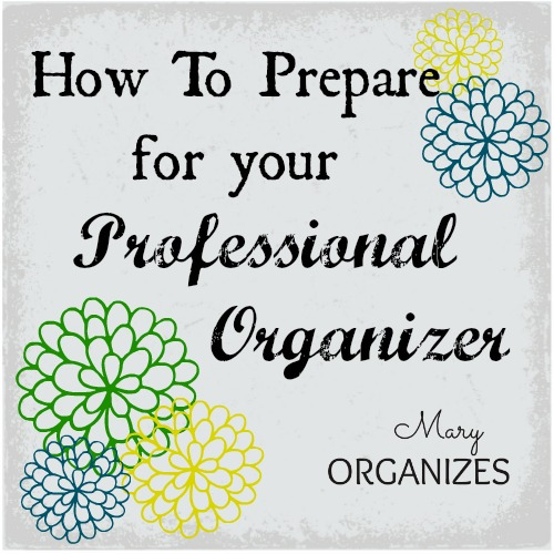 How To Prepare For A Professional Organizer