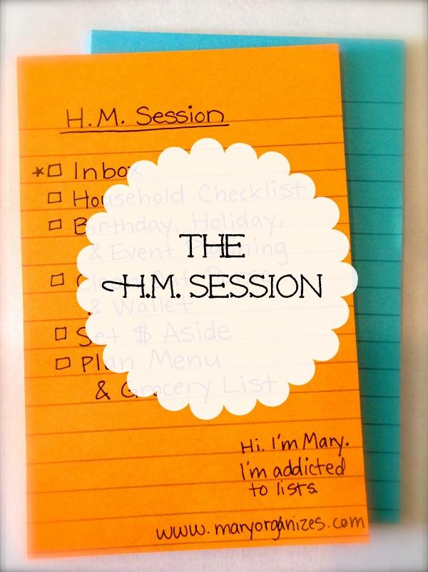 The HM Session Checklist