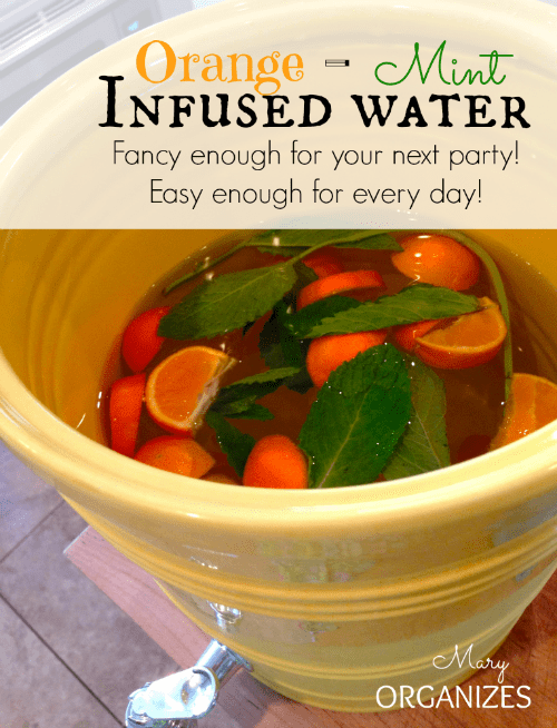 Orange-Mint Infused Water Recipe