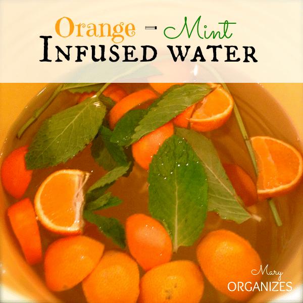 Orange-Mint Infused Water