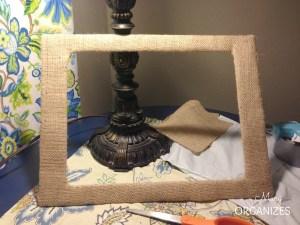 Ta Da - A burlap covered frame matting in less than 10 minutes