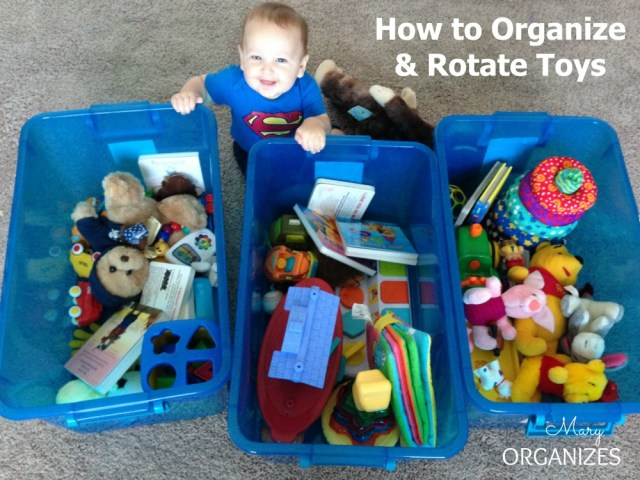 Divide the toys into groups with a good variety in each
