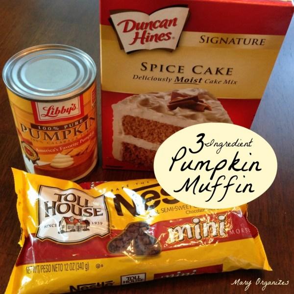 Easy 3-Ingredient Pumpkin Muffin Bites