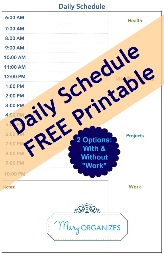 Daily Schedule with Free Printable