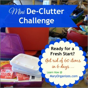 Mini De-Clutter: Get Rid of NICE THINGS!!