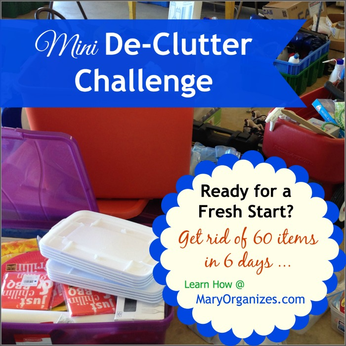 Mini De-Clutter Challenge