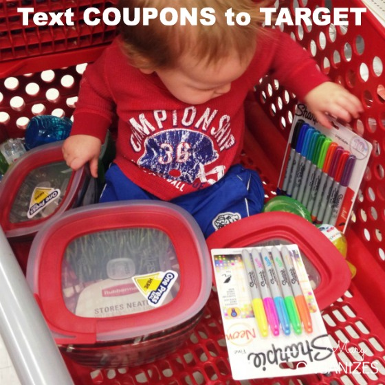 Text COUPONS to TARGET