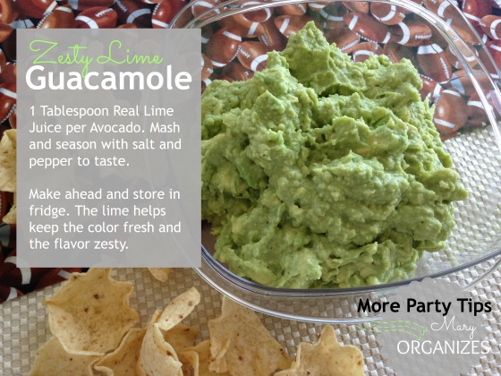 Zesty Lime Guacamole --- Tips You Need for Your Superbowl Party