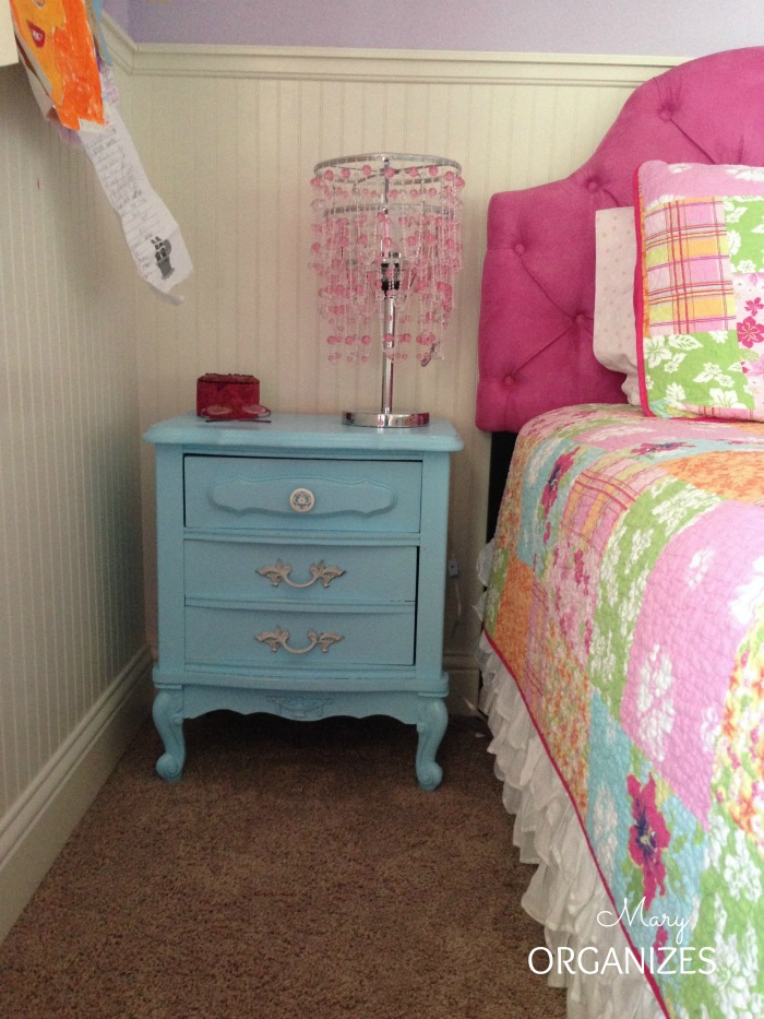 Cute little night stand that matches her dresser - antique and refinished