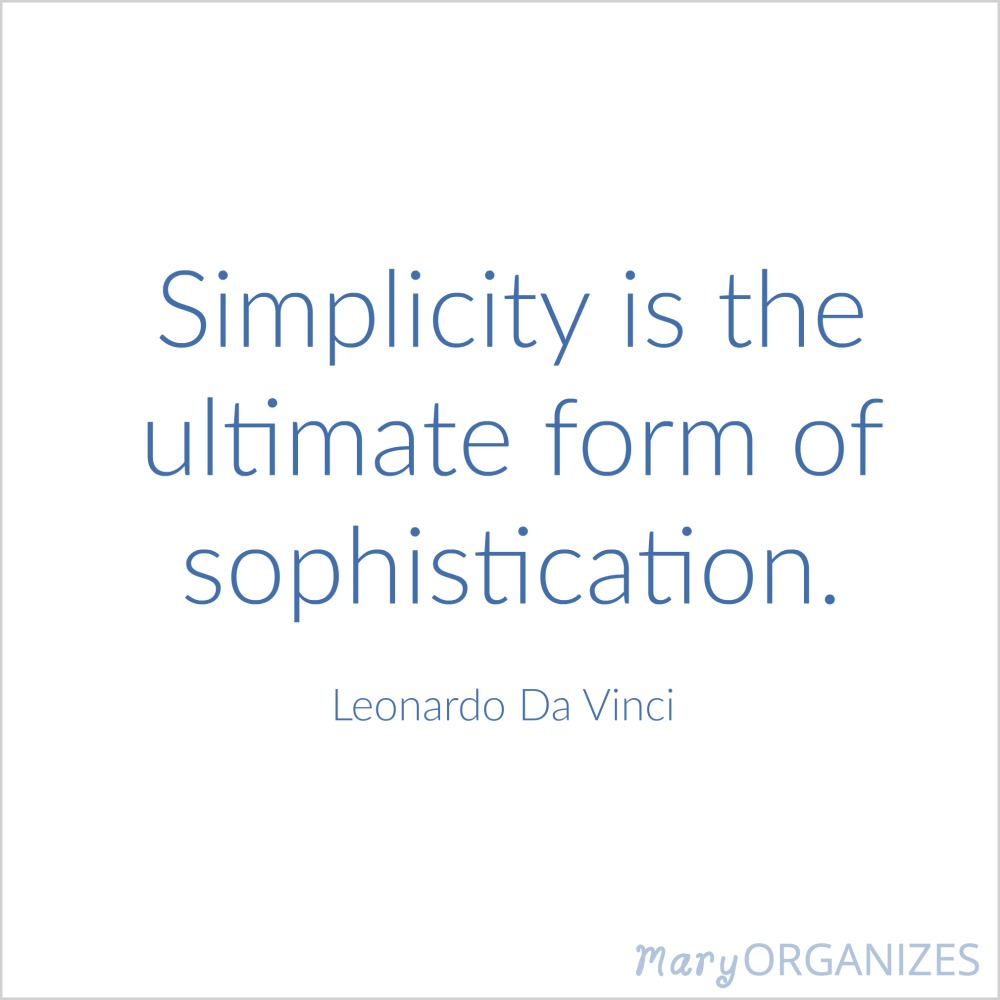 Simplicity is the ultimate form of sophitication