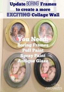 Update Boring Frames To Create A More Exciting Collage Wall