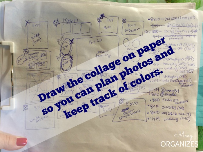draw the collage on paper