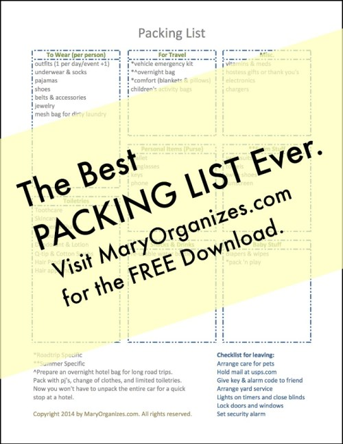 The Best Packing List Ever