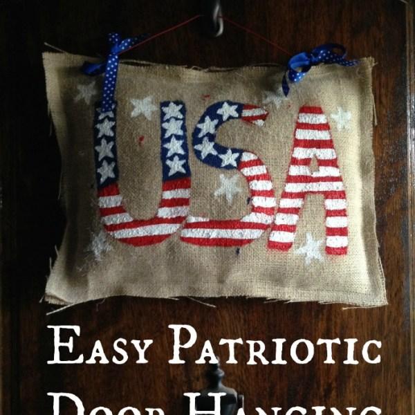 Patriotic Door Hanging – From Materials I Already Had