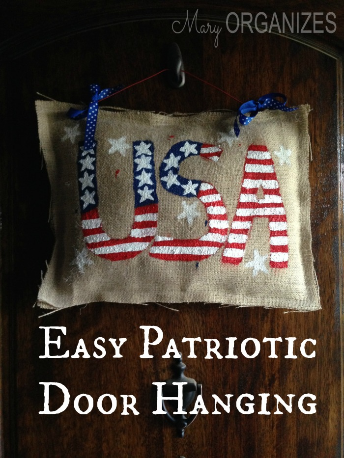 Easy Patriotic Door Hanging