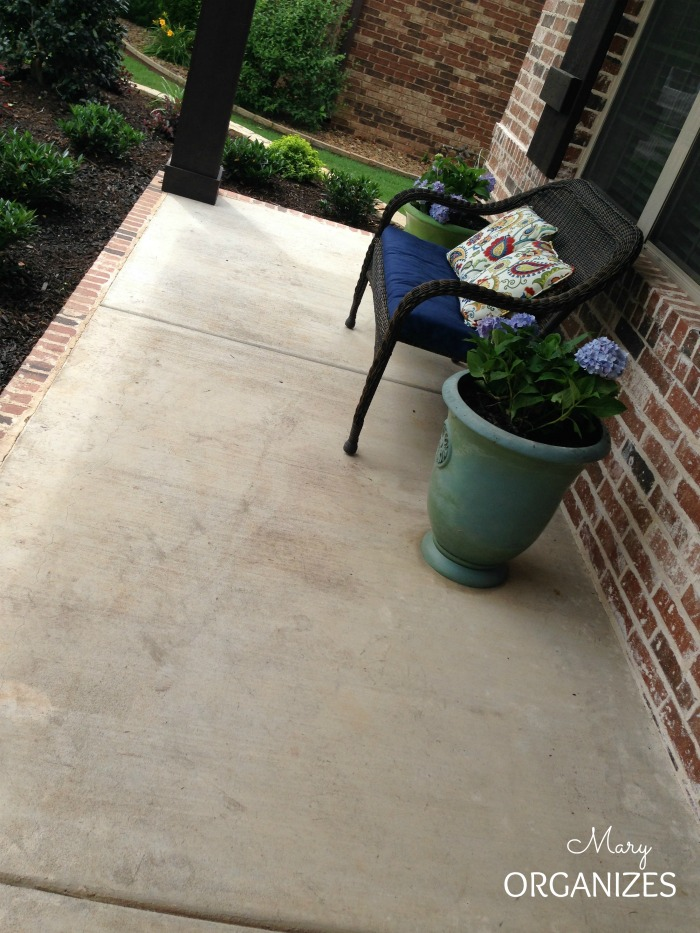 My Front Porch Update - sometimes the cement looks dirtier after power-washing
