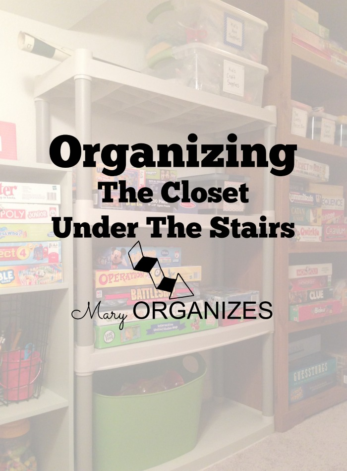 Organizing The Closet Under The Stairs Mary Organizes