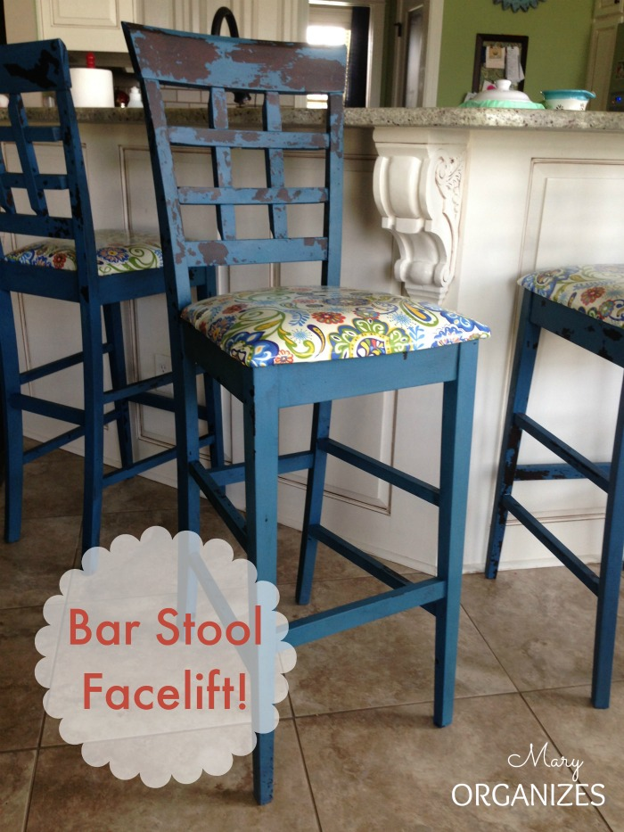 My bar stools got a facelift