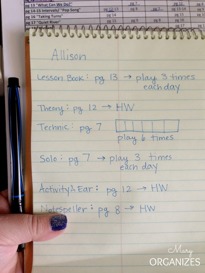 The students piano notebook