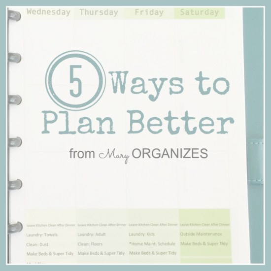 5 Ways To Plan Better