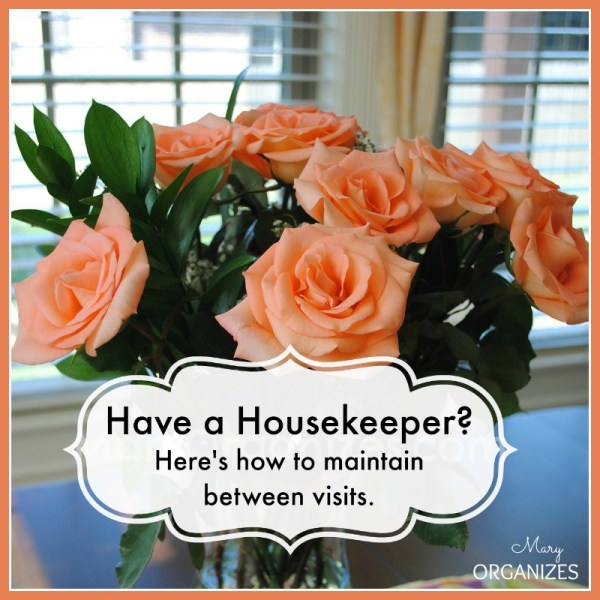 Have a Housekeeper? Here's how you maintain between visits.