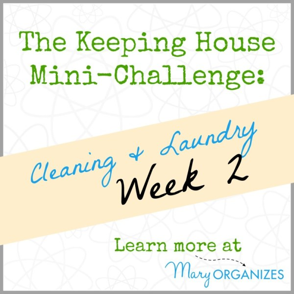 The Keeping House Mini-Challenge - Cleaning and Laundry - Week 2