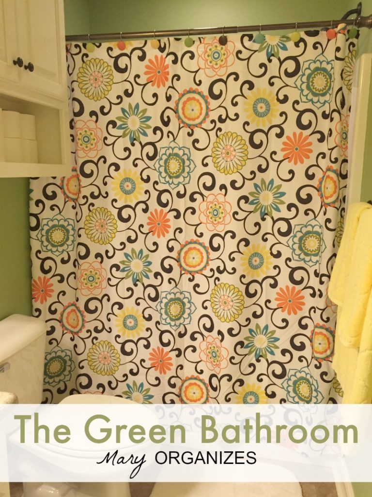 Green Bathroom Tour - The Happy Shower Curtain